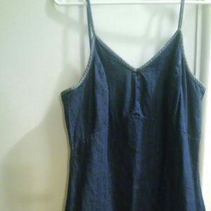 Old Navy Two Tone Denim Strap Dress